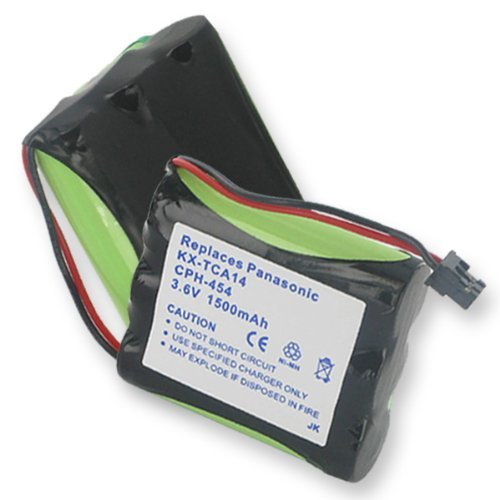 1500mA, 3.6V Replacement NiMH Battery for Philips SJB1142...