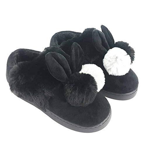 Autunno Donna Casa Spesso Caldo Cotone Slip E Fondo Da Pantofole Neve In Carino Coperta Borsa Con Inverno Black Stivali Invernale Aga5qw
