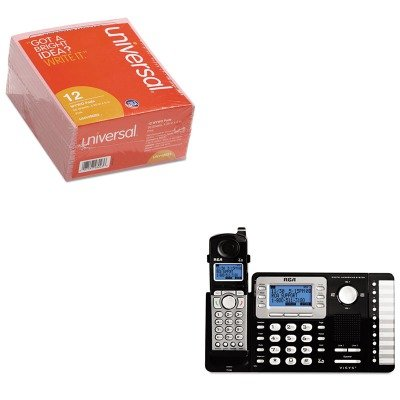 KITRCA25252UNV48023 - Value Kit - RCA ViSYS Cordless Expandable Phone/Ans System (RCA25252) and Universal Important Message Pink Pads (UNV48023)