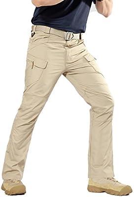 Xinwcanga Pantaloni Tattici Militari Uomo Ripstop Pantaloni da Viaggio Trekking Arrampicata ed Escursionismo