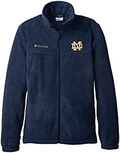 NCAA Notre Dame Fighting Irish Men's Collegiate Flanker II Full Zip Fleece Sweater, Collegiate Navy, Medium