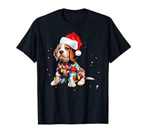 Christmas Lights Beagle T-Shirt Cute Gifts for Dog Lovers