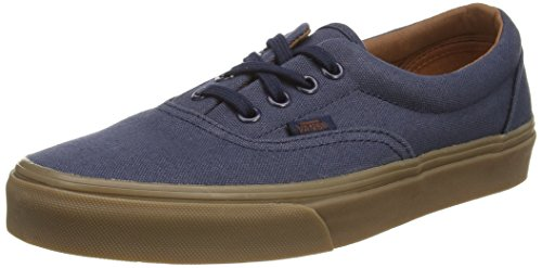 Gum Lace Low and Unisex Canvas Outsole Waffle Original Skate Nights up Era Shoes Durable Stitched Blue Classic Style in Top Vans Double 0dZ1xX1
