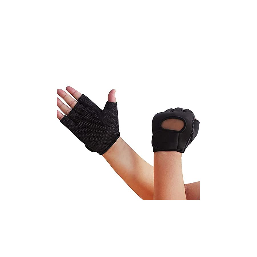 Wrist Half Finger Gloves for Climbing Riding Outdoor Sports Non slip Breathable 1 Set