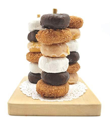 Mini Donut Stand Trio Mini ~ Mini Donut Bar Stands, (3 Poles) Semi-DIY Ready to finish or leave natural wood finish. Includes BONUS gift: Paper Lace ()