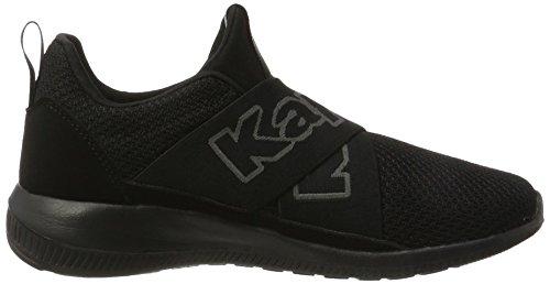 Kappa Unisex Adulto Più Veloce Ii Sneaker Nero (1111 Nero)