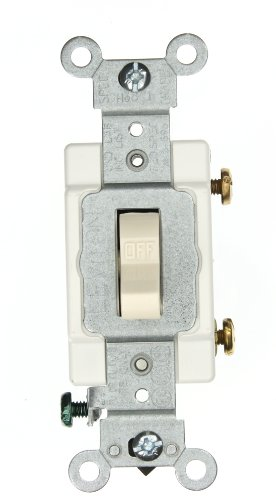 mp, 120/277-Volt, Toggle Single-Pole AC Quiet Switch, Heavy Duty Spec Grade, Grounding, Light Almond ()