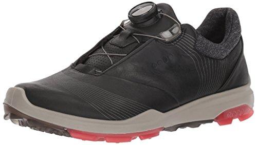 - ECCO Women's Biom Hybrid 3 BOA Gore-Tex Golf Shoe, Black/Teaberry Yak Leather, 10 M US