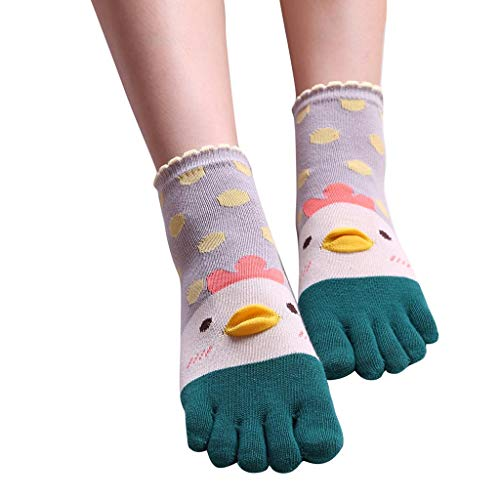 URIBAKE Unisex Five Toes Soft Socks Cute Cocks Funny Women Men Novelty Stockings