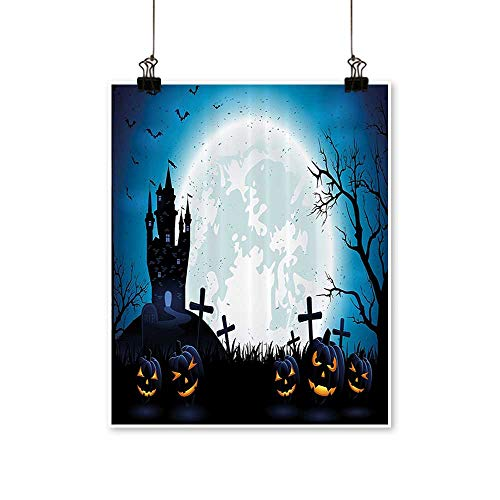 Canvas Wall Art Romantic Spooky Ccept with Halloween ICS Old Celtic Harvest Festival Figures for Home Decoration,32