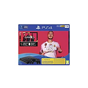 PlayStation 4 (PS4) + FIFA 20/FUTVCH/PS y días +DS4 v2/PS41TBF/SPA, Slim 1TB 419Y9YhMlwL