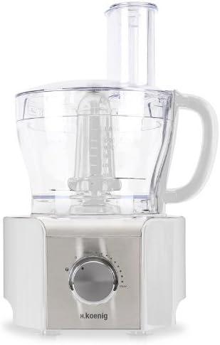 H KOENIG mx-18 Robot de cocina multifunción Batidora picadora (800 W, 1,5 litros, 8 funciones, Varios accesorios incluidos) Lima blanco: Amazon.es: Hogar