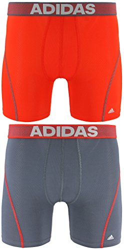 (adidas Men's Sport Performance Climacool Boxer Briefs Underwear (2-Pack), Red, Large)