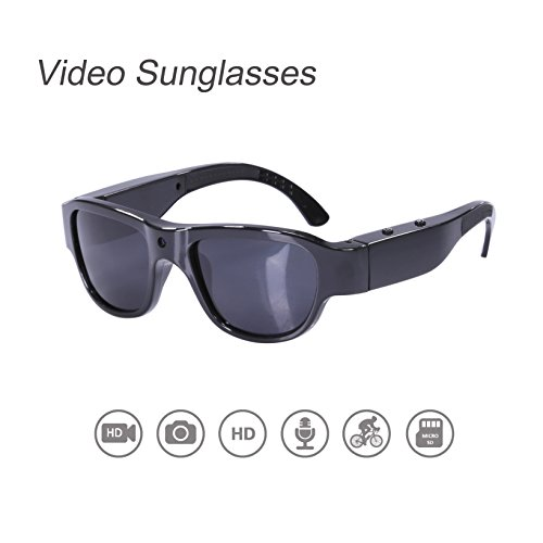 Video Sunglasses, OHO 8GB 1080P HD Video Recording Camera with Built In 15MP Camera and Polarized UV400 Protection Safety Lens Compatible for Prescription Lens by OhO sunshine