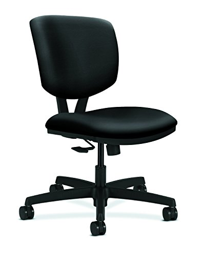 Linon AMZN0244 Clayton Charcoal Office Chair, Metallic