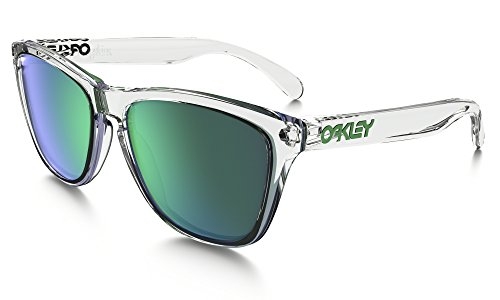 Oakley Frogskins Sunglasses Pol Clear Crystal / Jade Irid. & Care Kit - Clear Oakley Frogskins