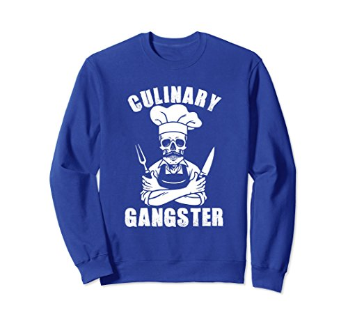 Unisex Culinary Gangster Novelty Cookout Sweatshirt 2XL Royal - Hat Brothers The What Do Wear Blues