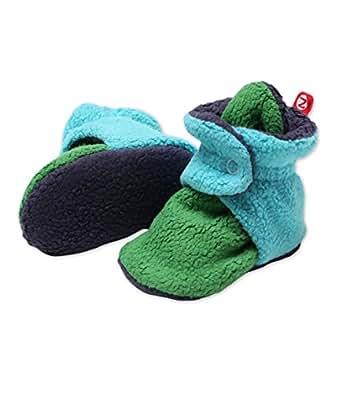 Zutano Newborn Unisex - Baby Fleece Bootie - Baby Fleece Bootie - APPLE/POOL/NAVY 3M