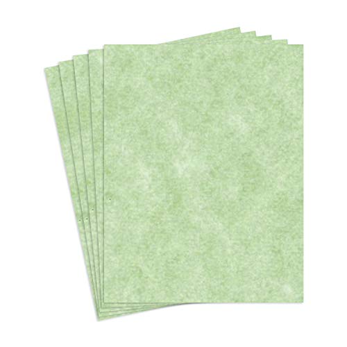 S Superfine Printing 8.5 X 11 Stationery Parchment Recycled Paper 65lb. Cover Cardstock - 250 Sheets Per Pack (Sagebrush)