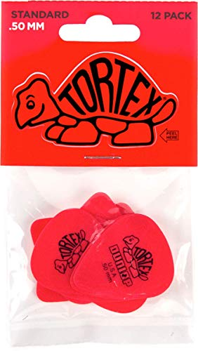 Dunlop Tortex Standard .50mm Red Guitar Pick - 12 Pack