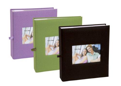 Lot de 3 albums photos Erica Square à pochettes 11.5x15 pour 200 photos -  violet vert noir  Amazon.fr  Cuisine   Maison d197a61ebd9a
