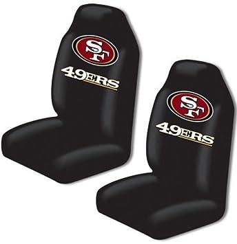 Amazon.com : San Francisco 49ers Auto Seat Cover Universal Fit Set