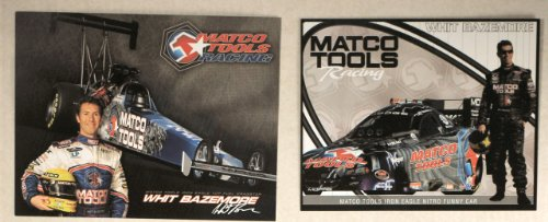 2007 - NHRA - David Powers Motorsports - Matco Tools Racing - Whit Bazemore / Iron Eagle Top Fuel Dragster & Dodge Funny Car Promo Cards - Mopar / Hemi - Valspar - New - Rare - (2007 David Irons)
