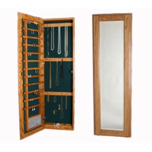 Wall Mounted Jewelry Case Without Lock Natural Maple Maple Jewelry Armoire