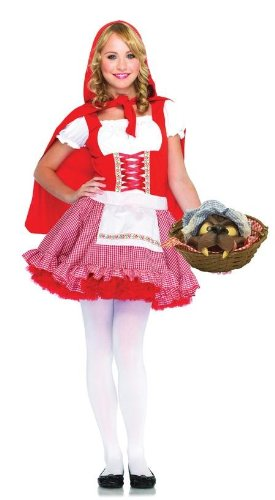 Little Red Riding Hood Halloween Costumes Teenager (Lil' Miss Red Teen/Junior Costume - Teen Small/Medium)