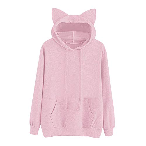 Womens Tops Sale,KIKOY Girls Cat Hooded Long Sleeve Sweatshirt Casual Pullover -