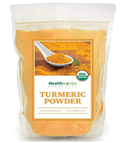 Healthworks Turmeric Root Powder Ground Raw Organic 16 Oz/ 1lb   Curcumin amp Antioxidants   Keto Paleo Vegan NonGMO   AntiInflammatory
