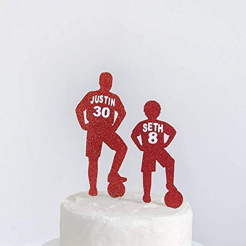 Fantastic Birthday Cake Topper Football Player Name And Age Party Cake Funny Birthday Cards Online Elaedamsfinfo