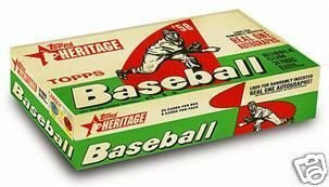 2007 Topps Heritage Baseball Factory Sealed Hobby Box (495 Card Set with Classic 1958 Topps Design includes randomly inserted Autographs and Memorabilia Cards) -