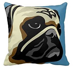 CCTUSGSH Cute Dog Cotton Throw Pillow Case Cushion Cover 16 X 16 Inches One Side