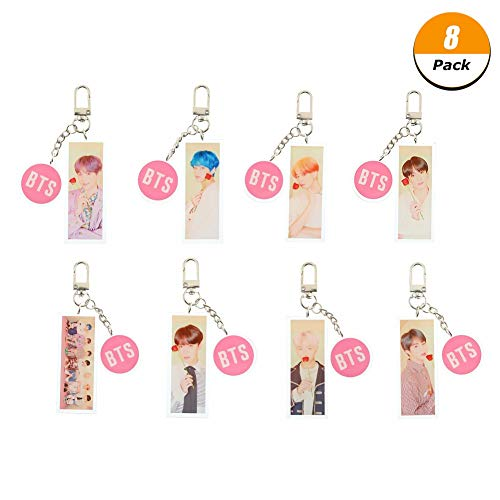 - Hosston BTS Keychain, Kpop BTS New Album《MAP of The Soul Persona》Cartoon Acrylic Keychain Bag Purse Phone Pendant Best Gift for A.R.M.Y(Style 27-8 Pcs)
