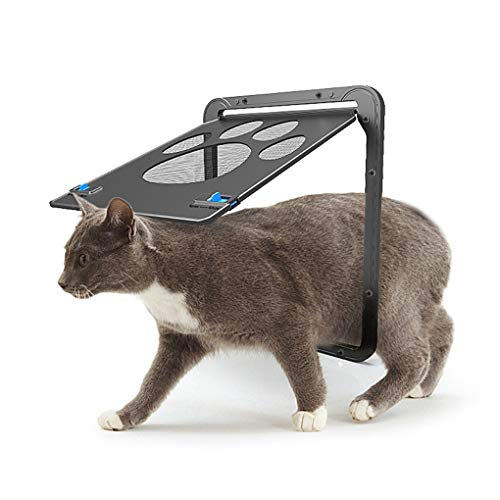 Vanselonsa 2019 Abs Automatical Pet Gates Cats Door Home Cottage Nylon Mesh Puppy Kitten Fence – Smartphone Door Enclosure Dirt Fenc Cat Door Screen Plastic Pet Window Plastic Door Ca