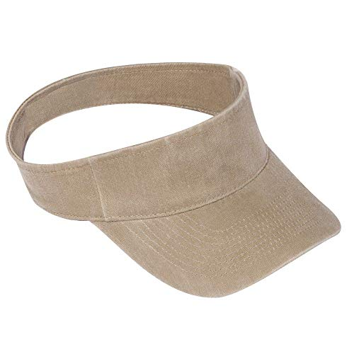 OTTO Garment Washed Pigment Dyed Cotton Twill Flex Sun Visor - Khaki