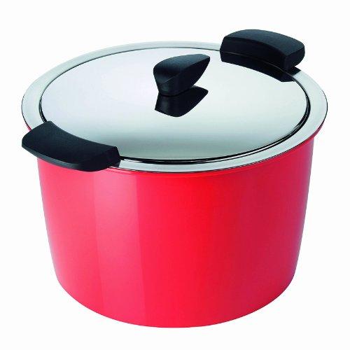 Kuhn Rikon 5-Quart Hotpan Stockpot, Red by Kuhn Rikon