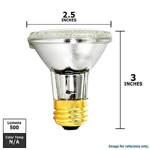 Luxrite 20613 38w 120v PAR20 Flood Eco Halogen Light Bulb 10-PACK