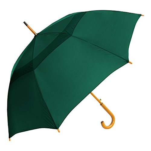 StrombergBrand The Vented Urban Brolly Hunter Green (Lime Green Umbrella)