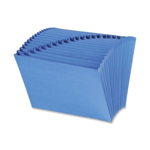 Wholesale CASE of 10 - Smead A-Z Antimicrobial Prod Protection Exp File -Expanding File,Antimicrobial,A-Z,21-Pockets,12''x10'',Blue
