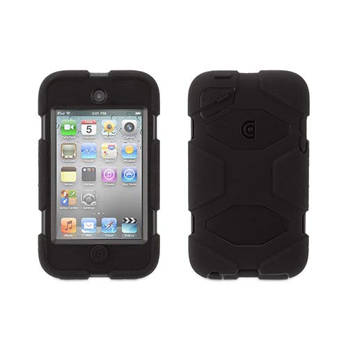 Griffin Th - Griffin Survivor Protective Cover For Player Silicone, Polycarbonate Black/Black For Apple Ipod Touch (4G)