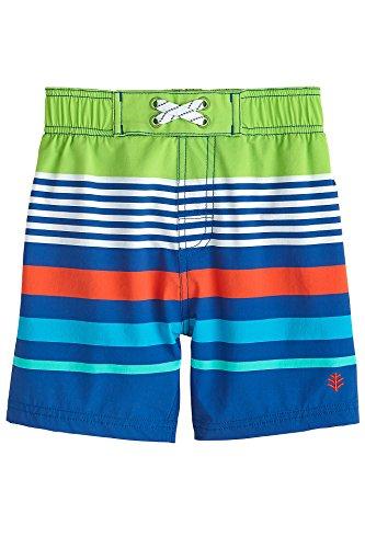 (Coolibar UPF 50+ Baby Boys' Island Swim Trunks - Sun Protective (2T- High Tide Stripe) )