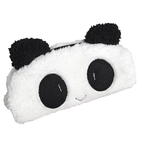 Cute Plush Panda Pencil Pen Case Cosmetic Bag Makeup Brush C