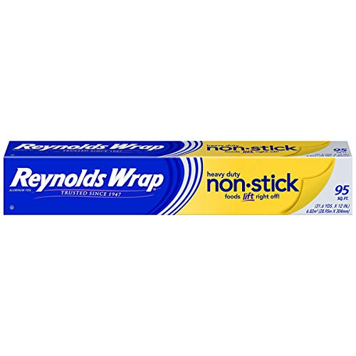 Heavy Duty Foil Aluminum Wrap - Reynolds Wrap Non-Stick Heavy Duty Aluminum Foil - 95 Square Feet