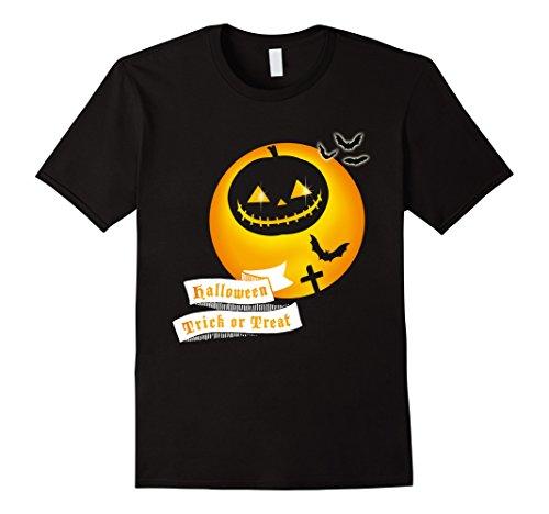 Mens Jack O' Lantern moon Smiley Pumpkin Halloween fun T-shirt Small (Smiley Costume Horror)