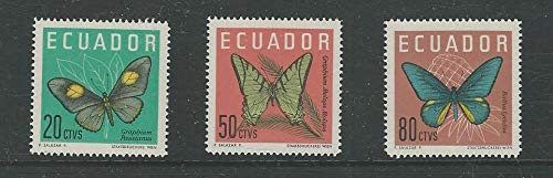 Ecuador, Postage Stamp, 711-713 Mint NH, 1964 Butterfly, JFZ