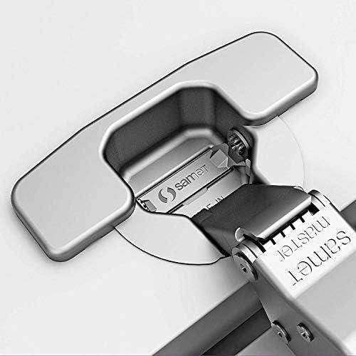 Master Toolless T45 Topfband werkzeuglose Topfmontage Eckanschlag 110/° unged/ämpft Kreuzplatte mit Langlochverstellung Topfscharniere von SO-TECH/®