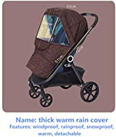 Stroller Rain Cover Baby Shnookums Snow and Windproof Travel Cover for Travel System Strollers Deluxe Travel System Stroller Weather Shield Universal Rain Storage Bag Included