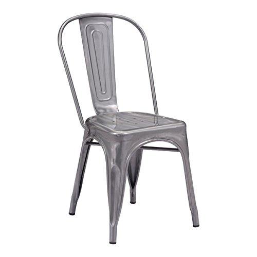 Zuo Elio Dining Chair, Gunmetal